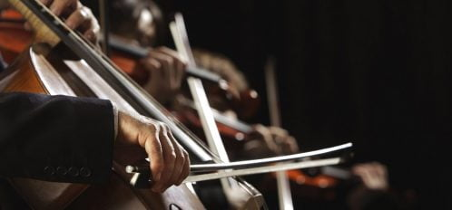 orchestra playing music